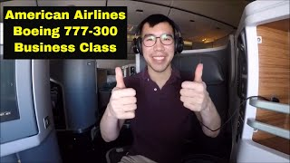 Gambar cover The American Airlines 777-300 Business Class DFW-HKG Experience