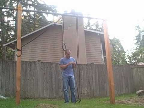 Backyard Gymnastic Rings Frame For Mounting Home Project