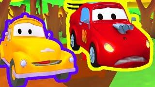 Эвакуатор Том и Гонщик Джерри в Автомобильный Город | Мультфильм для детей