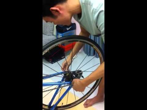 วิธีถอดและใส่ล้อจักรยานเสือหมอบ