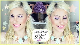 Purple Pink Spring Eyes + Coral Lip (Makeup Tutorial) GRWM ♡ Stefy Puglisevich