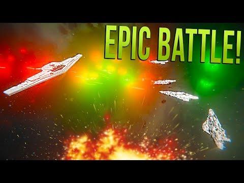 SUPREMACY VS RESISTANCE FLEET - STAR WARS Fleet Battle | Space Engineers!