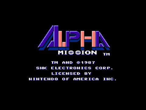 Alpha Mission (USA) Complete Playthrough (NES)