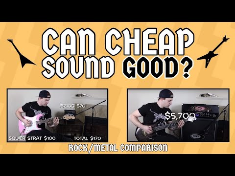 CAN CHEAP SOUND GOOD?! (ROCK/METAL COMPARISON)