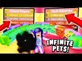 INFINITE Pets Equipped Gamepass and Getting On BOTH LEADERBOARDS! (Roblox Vacuum Simulator)