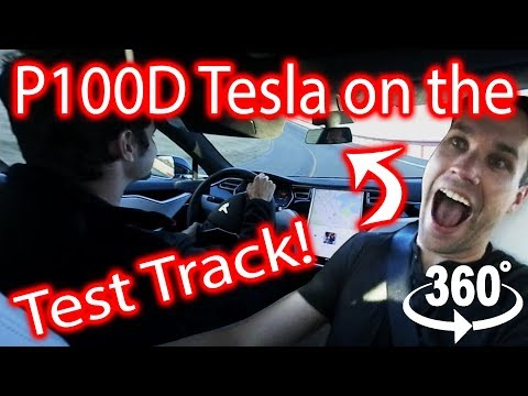 Tesla Test Track in 360!!! Feat. Dan from What's Inside & Austin Evans!