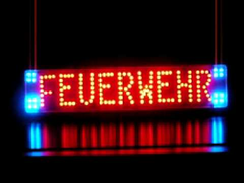 led schild feuerwehr youtube. Black Bedroom Furniture Sets. Home Design Ideas