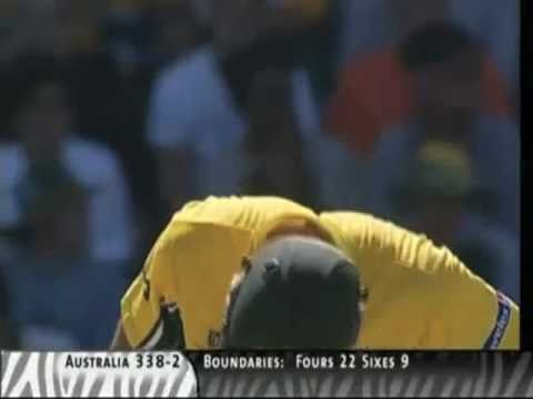 (Commentary version) Ricky Ponting 140* - 2003 World Cup Final Vs India