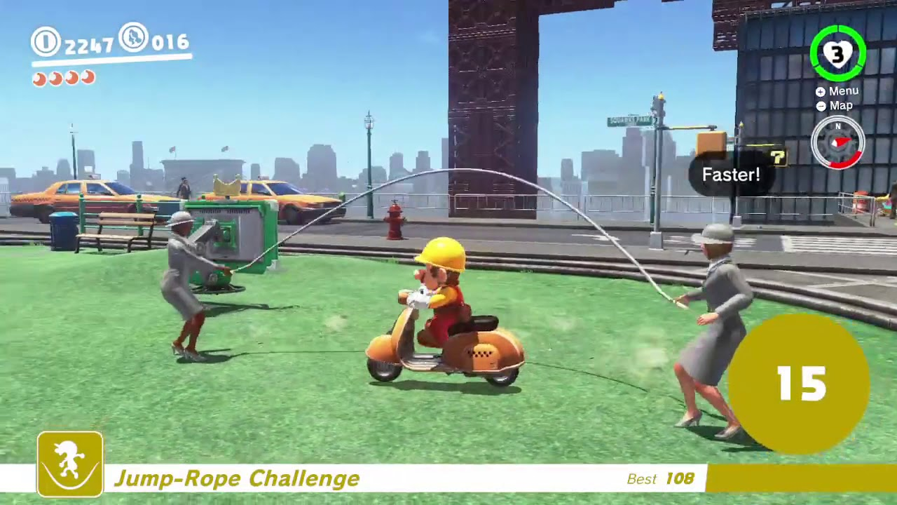 Super Mario Odyssey: How to beat jump rope challenge
