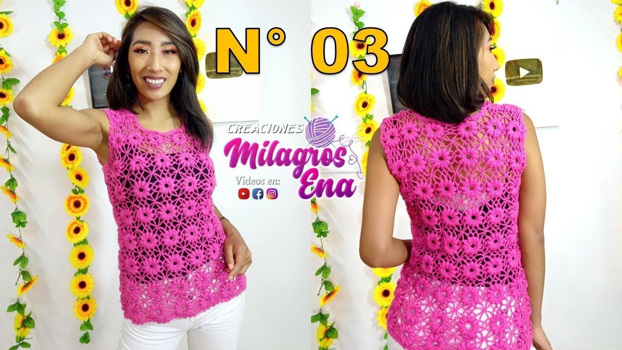 Rosada tejida con motivos a crochet paso a paso - TEJIDOS MILAGROS ENA ...