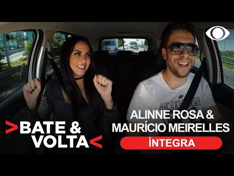 Alinne Rosa e Maurício Meirelles trocam confidências no Bate & Volta