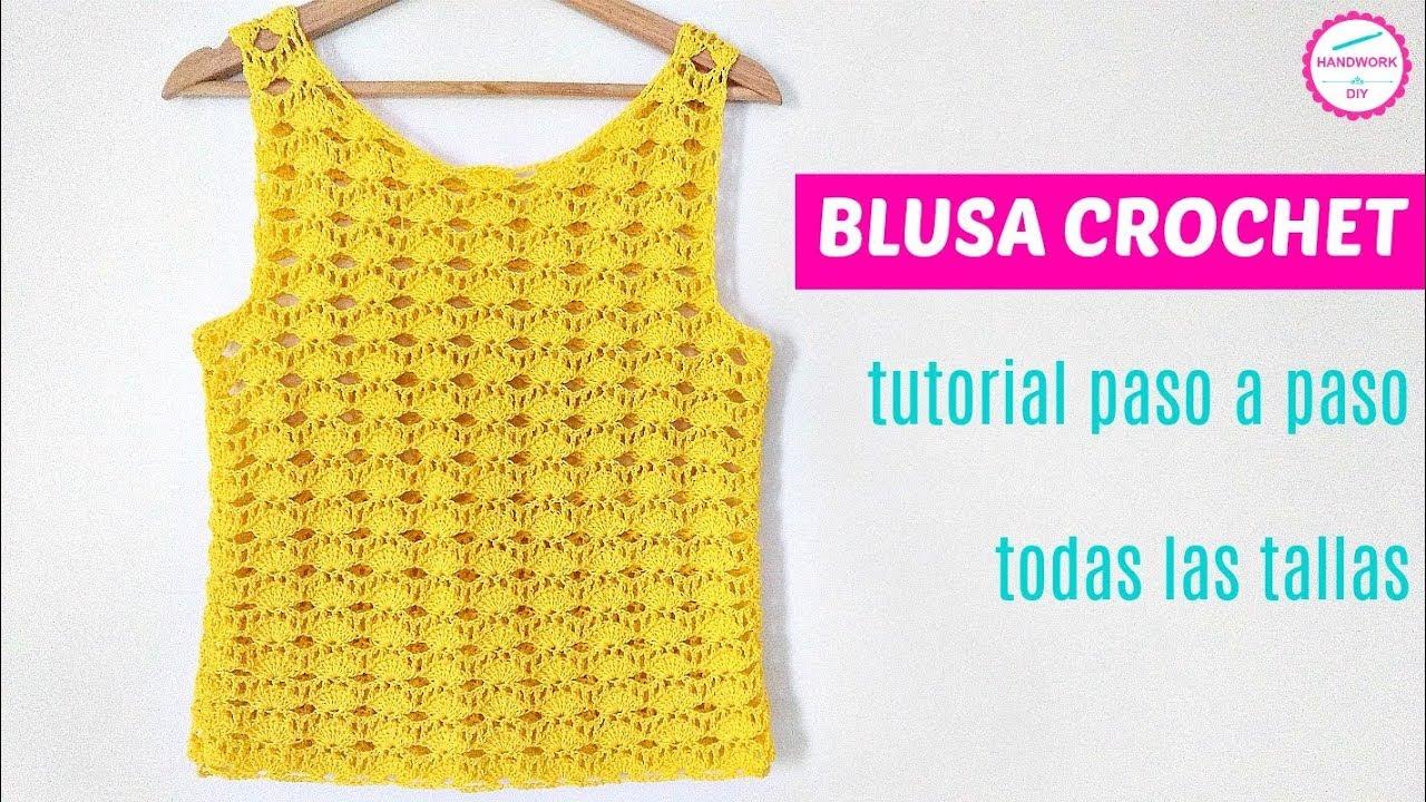 Como Tejer Blusa Crochet En Todas Las Tallas Youtube
