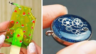 15 Epoxy Resin DIY Ideas JEWELRY IDEAS FOR TEENAGERS   FAIRY PENDANTS MADE OUT OF AN EPOXY RESIN