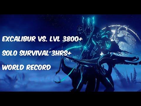 Warframe Excalibur Endgame 3hrs+ Solo Survival