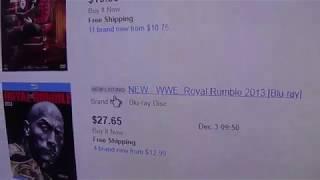 WWE ebay DVD lookups 12/3/18