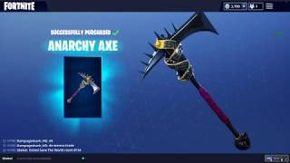 Fortnite NEW Skins - France ACCORD DE PUISSANCE ANARCHY AXE - France Stage DIVE Planeur
