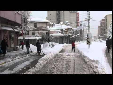 Dursunbey'de Kar  Kalınlığı 70 CM'ye Ulaştı