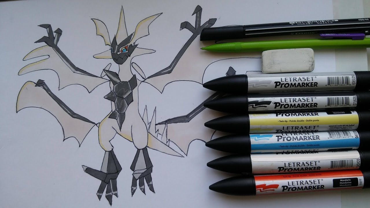 Speed Drawing Ultra Necrozma Pokemon Comment Dessiner Youtube