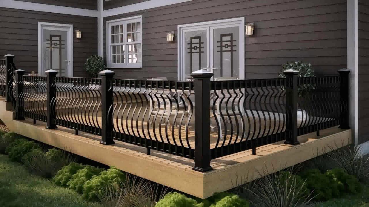 Deck Railing Ideas Metal (see description) - YouTube