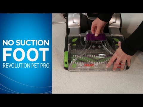 What to do if my ProHeat 2X® Revolution™ Pet Pro Carpet Cleaner has no suction in the foot   BISSELL