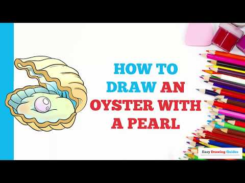 How to Draw an Oyster with a Pearl in a Few Easy Steps: Drawing Tutorial for Kids and Beginners