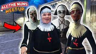 The Nuns Are All MEETING UP TOGETHER!!! | Evil Nun Mobile Horror Game (Messing Around)