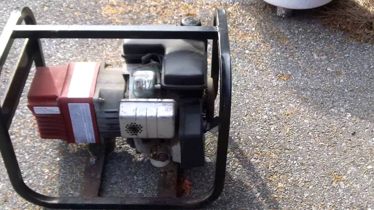 Coleman Powermate 3000 Ohv 4 Stroke Gas Generator Youtube