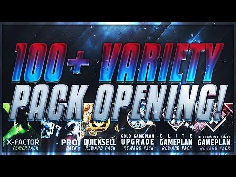 100+ VARIETY PACK OPENING - 15 MILLION COINS SPENT!!! 2 MILLION COIN PULL!!! | Madden Mobile 17