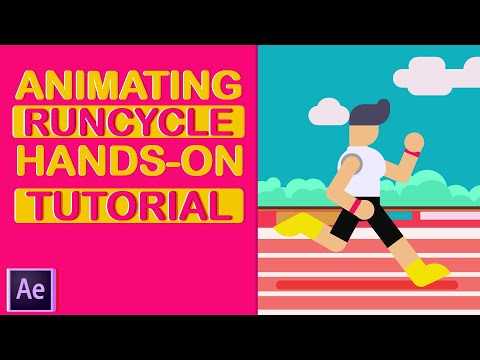 How to animate a run cycle  | After Effects Tutorial