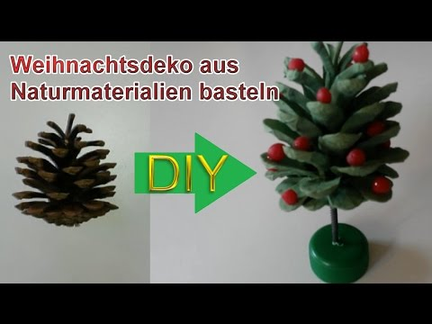 deko weihnachtsbaum aus tannenzapfen selbst basteln diy weihnachtsdeko selber machen youtube. Black Bedroom Furniture Sets. Home Design Ideas