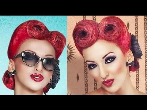Modern Pinup Victory Rolls Updo Vintage Retro Youtube