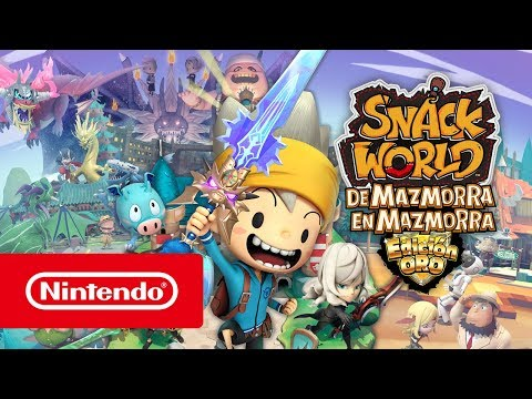 SNACK WORLD: DE MAZMORRA EN MAZMORRA – EDICIÓN ORO Tráiler de presentación (Nintendo Switch)