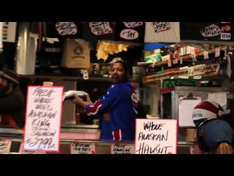 Throwing Fish In Seattle - Harlem Globetrotters Style