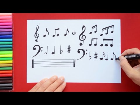 How to draw and color Musical Notes