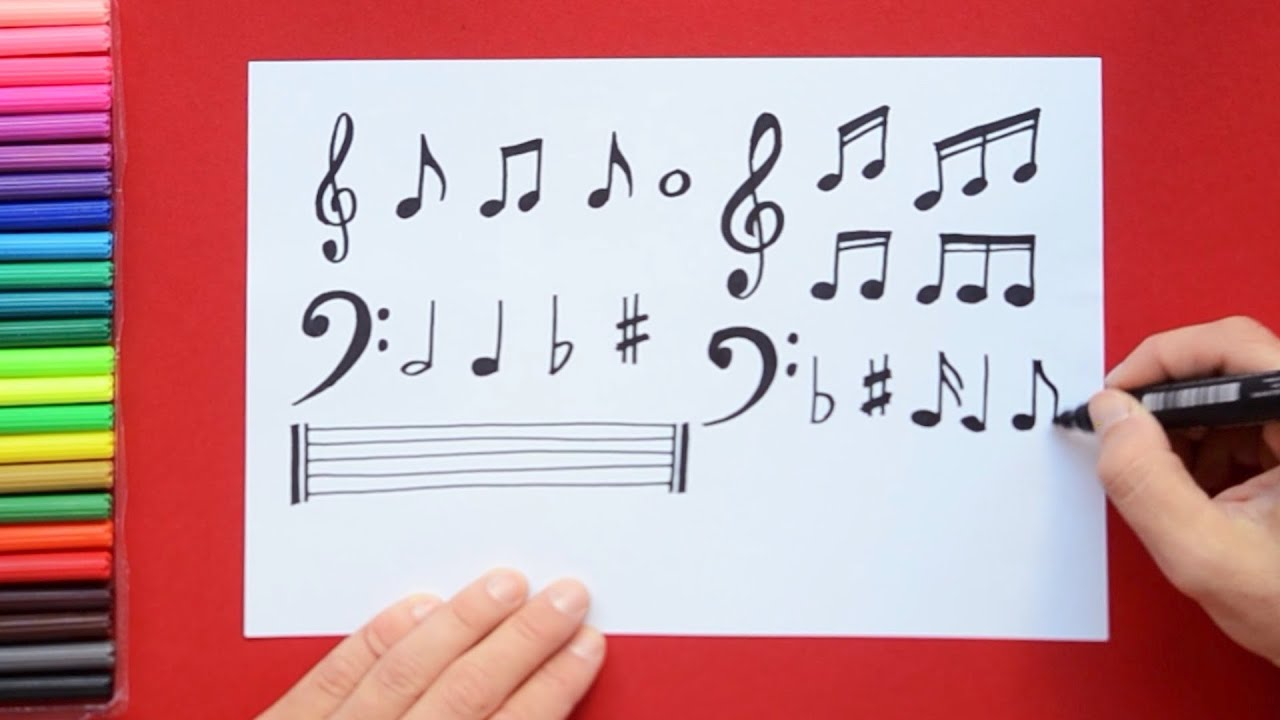 How To Draw Musical Notes Youtube