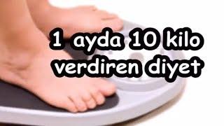 1 ayda 10 kilo verdiren diyet Video