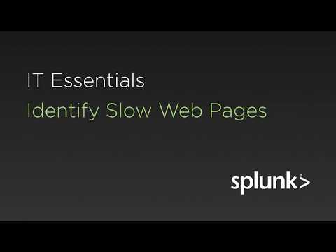 identify slow web pages