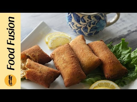Chicken Cheese Bread Rolls Recipe By Food Fusion (Ramzan Special)