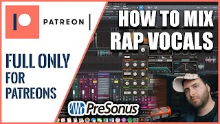 #5 - How I mixed main RAP VOCALS | Studio One Tutorial