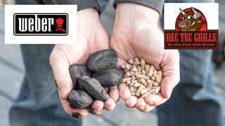Pellet grill vs Charcoal Rec Tec vs Weber Kettle BBQ Start up Time