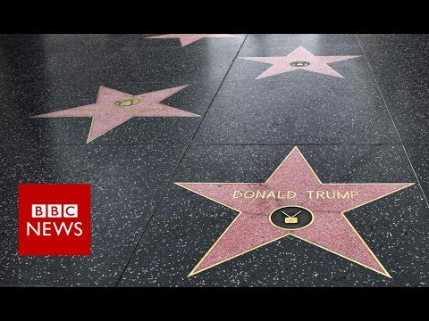 Donald Trump's Hollywood star destroyed - BBC News