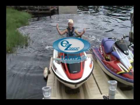 Floating Docks Tampa, FL - PWC Lift - EZ Dock Tampa - YouTube