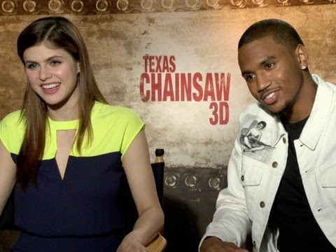 Alexandra Daddario and Trey Songz Talk 'Texas Chainsaw 3D' - YouTube