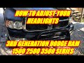 HOW TO ADJUST YOUR DODGE RAM HEADLIGHTS