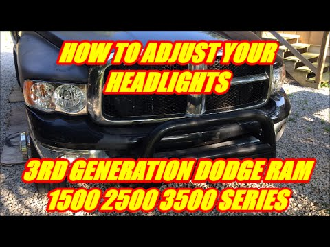 How To Adjust Your Dodge Ram Headlights Youtube