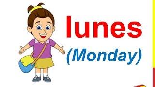 Spanish Lesson 11  DAYS OF THE WEEK in Spanish Vocabulary Los días de la semana en español