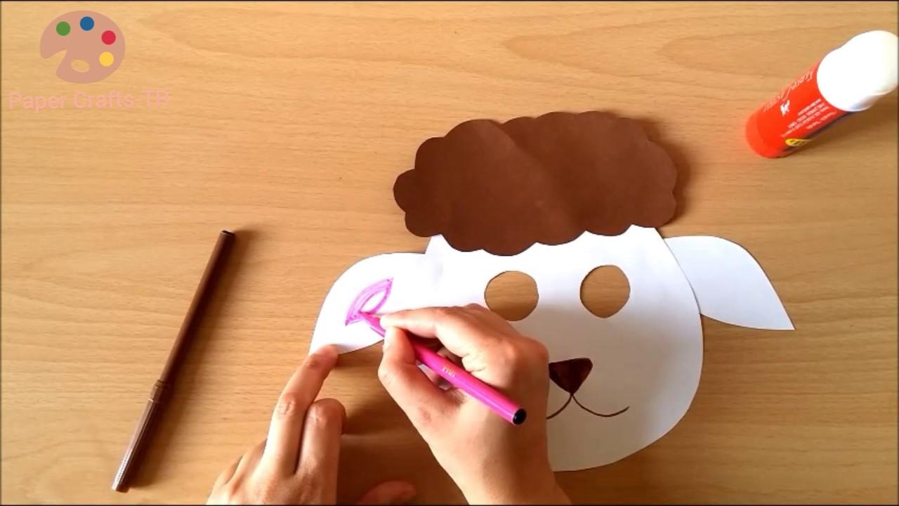 Making lamb mask for preschool children youtube making lamb mask for preschool children paper crafts tr jeuxipadfo Images