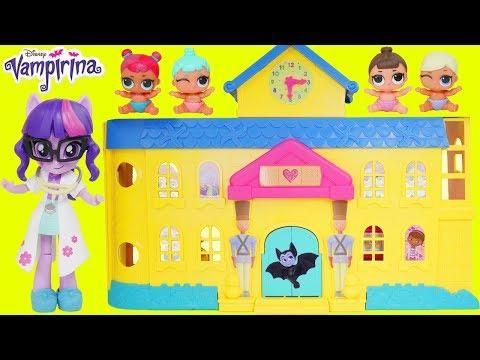 Don't Wake Vampirina My Little Pony Rarity Twilight Sparkle Switch Fashion Barbie Hospital Party!