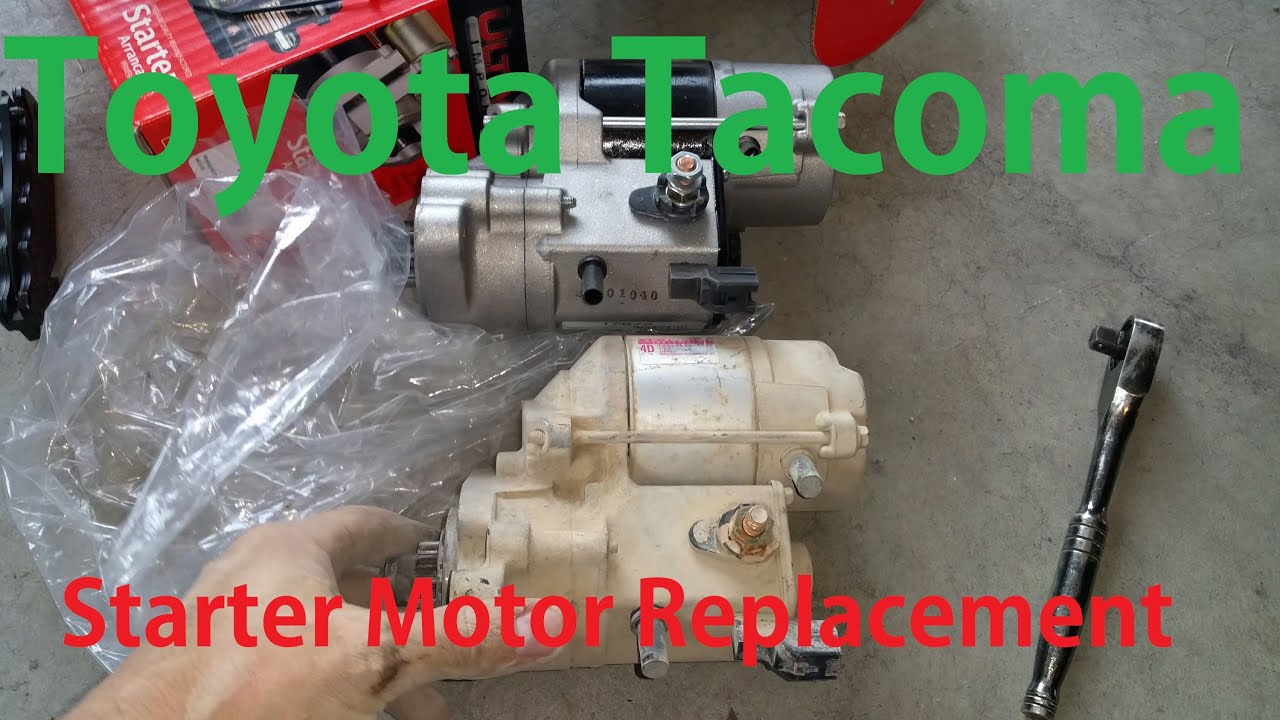 Toyota Tacoma Starter Motor Replacement First Gen Truck Youtube 2004 4runner Wiring
