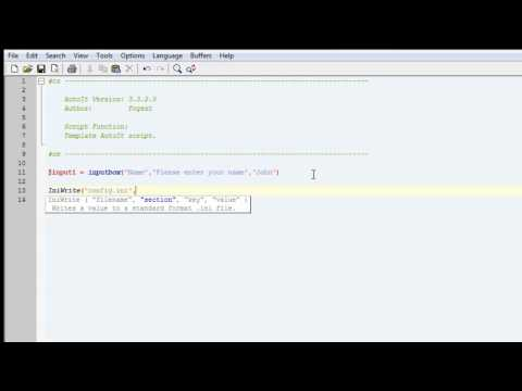 AutoIt Tut Part 3 How to save to a ini file